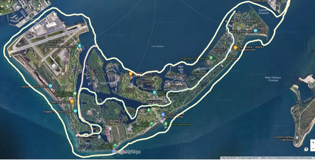 Toronto Island Kayak Route
