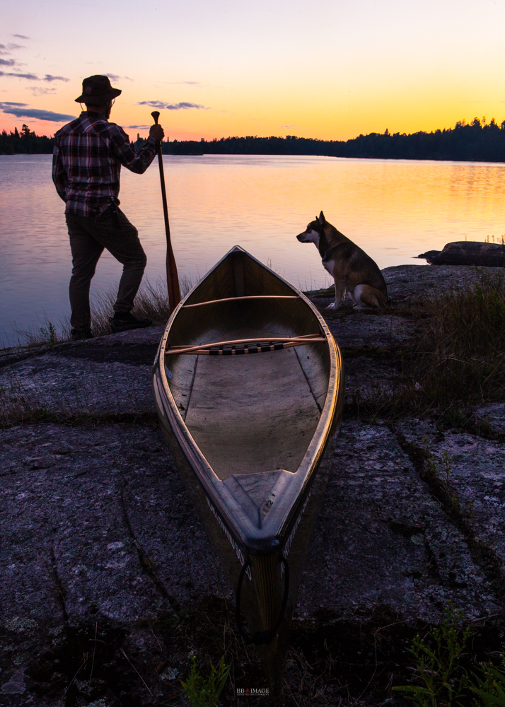 Marmion Lake Circle Route, North Star Canoe and The Husky AUrora with BB image